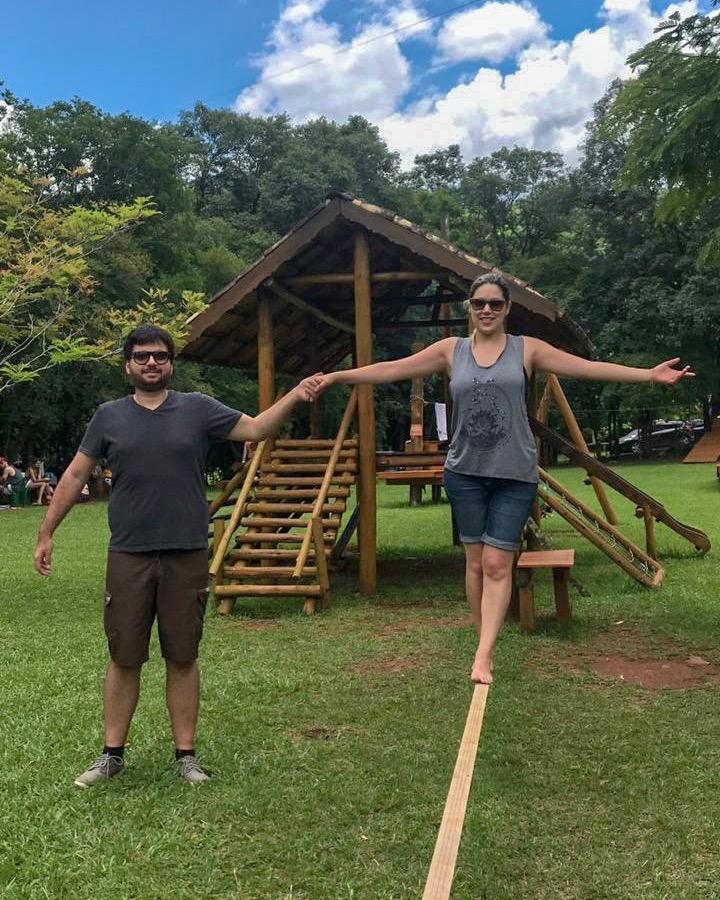 Slackline no Brasil Raft Park